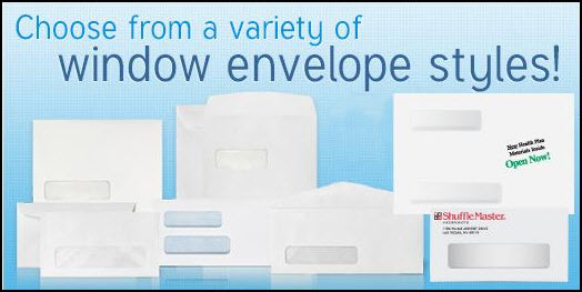 Variety of window envelope styles