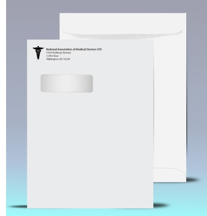 9 x 12 window envelopes catalog style for Double window envelope template