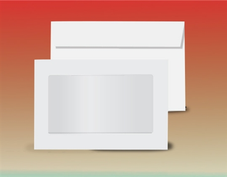 Custom and special window envelopes self seal glassine for 10 window envelope size