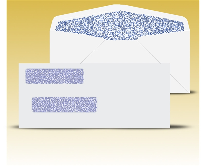 Buy window envelopes online at window envelopes com for Double window envelope template